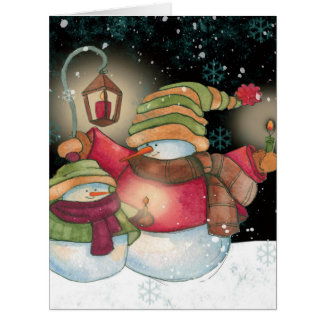 Jumbo Snow Pals Seasons Greetings Card