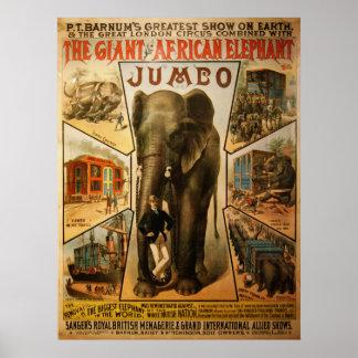 Jumbo, The Giant African Elephant Poster