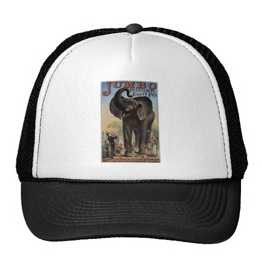 Jumbo The Giant Elephant Retro Theater Trucker Hats