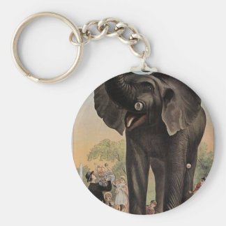 Jumbo The Giant Elephant Retro Theater Key Chains