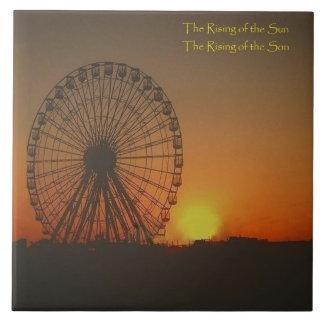 Jumbo Tile - Ferris wheel at sunrise