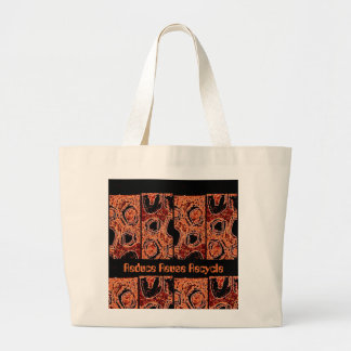 Jumbo tote African design: Reduce Reuse Recycle