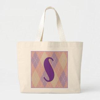 Jumbo tote bag- initial S