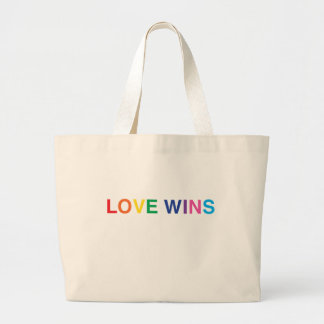 Jumbo Tote Bag, Love Wins