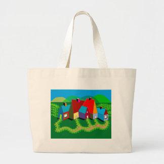 Jumbo Tote Bag with Folk Art