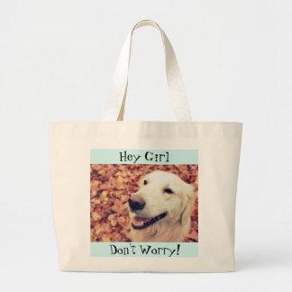 Jumbo Tote bag with Golden Retriever photo