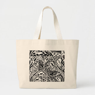Jumbo Tote Bag with Safari theme batik design