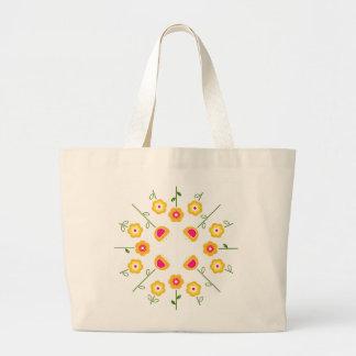 Jumbo tote bag with Yellow flowers