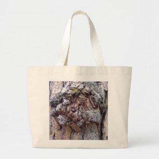 Jumbo tote featuring tree bark photo. bags