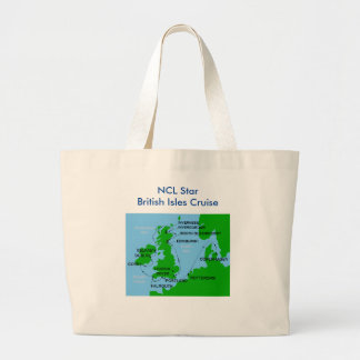 Jumbo Tote for British Isles cruise Jumbo Tote Bag