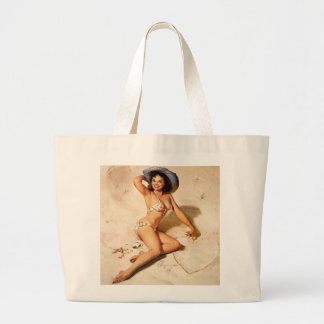 Jumbo Tote in Natural Canvas Bags