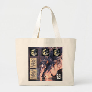 JUMBO TOTE LOVE IS A WILD HORSE