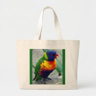 Jumbo tote Parakeet Bird Jumbo Tote Bag