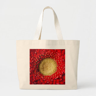 Jumbo Tote - Red Gerbera Canvas Bag