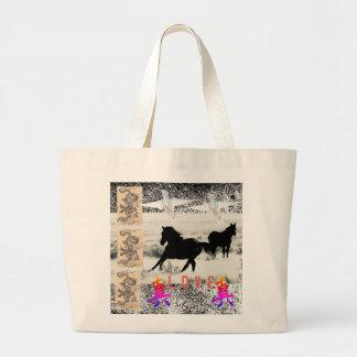 Jumbo Tote Wild Horse Collage