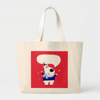 Jumbo tote with Red teddy