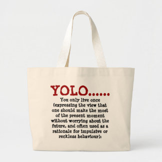 Jumbo Tote YOLO.... Red Black Jumbo Tote Bag