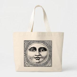 Jumbo Tote-Zentangle Moon Jumbo Tote Bag