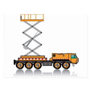 Jumbo Truck lift Postcard