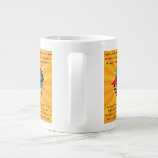 Jumbo White Mug - Armor of God 20 Oz Large Ceramic Coffee Mug