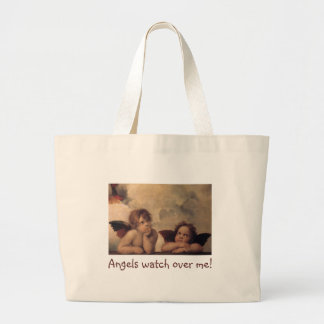 JumboTote-Angels watch over me! Large Tote Bag