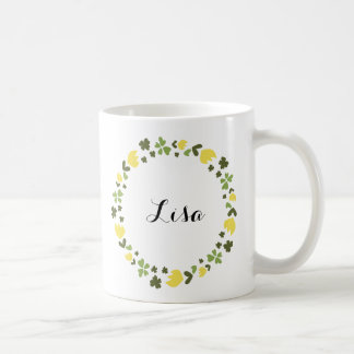 Jump floral wreath custom coffee mug