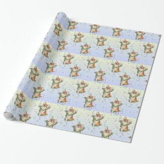 Jump for Joy Corgi Wrapping Paper