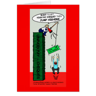 JUMP HIGHER brilliant sarcastic cartoon Card