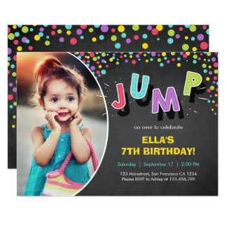 Jump Invitation Bounce House Bounce Birthday