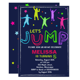 jump invitation - Bounce house invitation