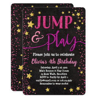 Jump & Play Birthday Invitation Bounce House Party