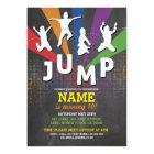 Jump Trampoline Birthday Party Boys Girls Invite
