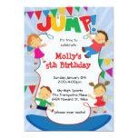 JUMP! Trampoline Bounce House Gym Invitation