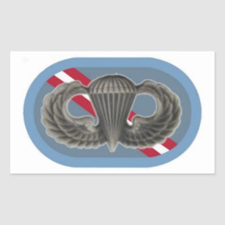 Jump Wings on 1st Bn 143rd Inf  Oval Stickers