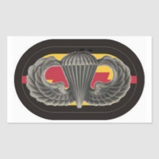 Jump Wings on 1st Bn RANGER Oval Stickers