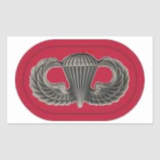 JUMP WINGS ON 7TH SFG OVAL STICKERS