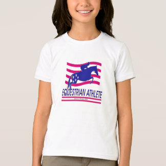 Jumper Equestrian Athlete Girls Ringer T-shirt