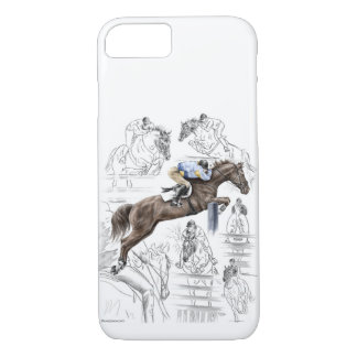 Jumper Horses Fences Montage iPhone 8/7 Case
