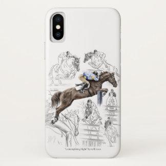 Jumper Horses Fences Montage iPhone X Case