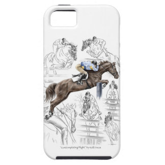 Jumper Horses Fences Montage Tough iPhone 5 Case
