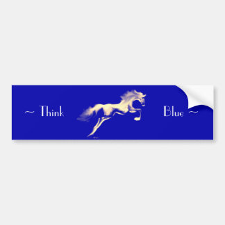 "Jumper ~ ""Think Blue"" Bumper Sticker"