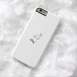 jumping alpaca barely there iPhone 6 case