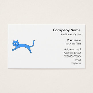 Jumping Blue Cat. Business Card