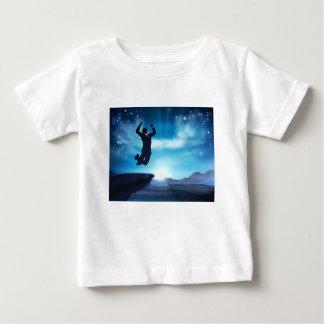 Jumping Businessman Success Concept Baby T-Shirt