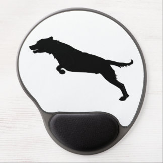 Jumping Dog Silhouette Gel Mouse Pad