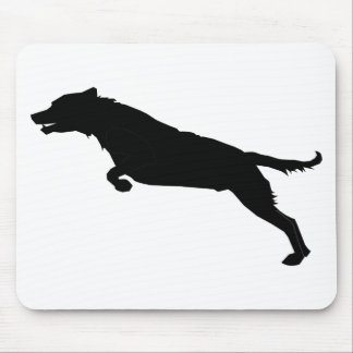 Jumping Dog Silhouette Mouse Pad