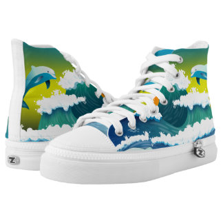 Jumping dolphin high tops