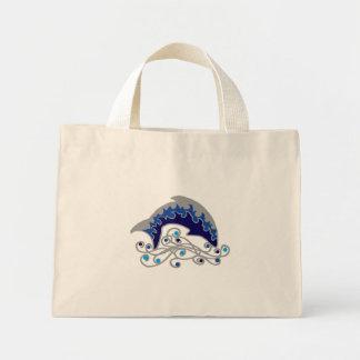 jumping dolphin mini tote bag