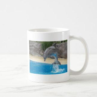 Jumping Dolphin Basic White Mug