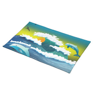 Jumping dolphin placemat